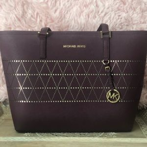 Brand New Michael Kors Plum Tote